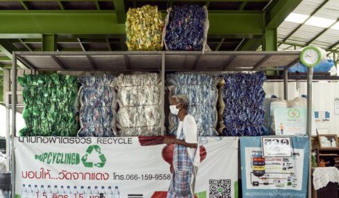 sostenibilità dei rifiuti plastici in Asia